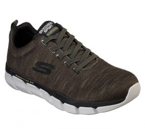 SKECHERS Men's Relaxed Fit Skech-Flex 3.0 Strongkeep Athletic Training Sneaker in Olive