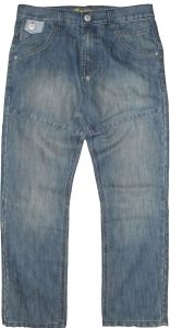 """CARABOU MENS SMART FIT MULTI PANEL DESIGN TINTED WASHED BLUE JEANS (RV-115) IN WAIST 32"""" TO 56"""" & L29"""" TO 33"""""""