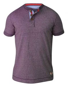 D555 Mens Extra Tall Henley Top With Woven Placket(Paul) Size MT-3XLT, 2 Color Options