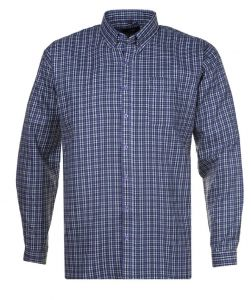 Subterfuge Mens Big Size Cotton Button Down Collar Check Shirt (294)