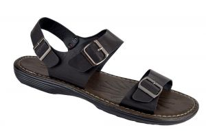 D555 Men's Large Size Light Weight Sandals (Kemp) in Black in Size UK12 to UK15
