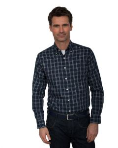 Henderson Pure Cotton Large Check LS Leisure Shirt (3643) in Size 2XL to 6XL