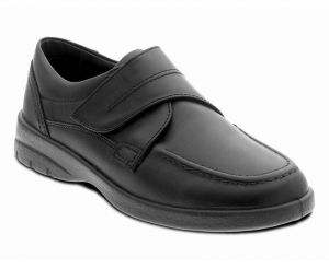 PADDERS FORMAL WIDE FIT LEATHER TOUCH STRAP BLACK SHOES (SOLAR) IN SIZE UK6 TO UK12