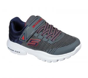 Skechers Razor Flex Mezder Sports Shoes Childrens Sports in  Charcoal Navy