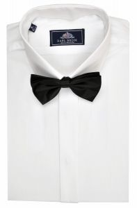 Rael Brook Mens Formal Plain Fly Shirt White