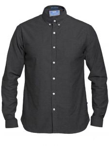 D555 Mens Big Size Long Sleeve Buttoned Down Stretch Shirt (Nebraska)