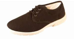 DB's Shoes Mens Troon Laced Canvas in Black, (4E FIT) EXTRA WIDE