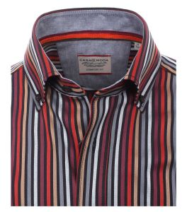 CASA MODA Mens Extra Tall Pure Cotton Striped Long Sleeved Shirt in Size MT To 3XLT