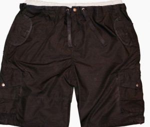 KAM RELAXED FIT COTTON RICH MULTI POCKET LEISURE SHORTS IN SIZE 2XL TO 8XL, BLACK & STEEL GREY COLORS