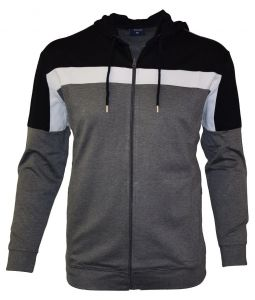 Espionage Mens Stretch Hooded Training Top (088) in Charcoal/Black, Size 2XL to 8XL