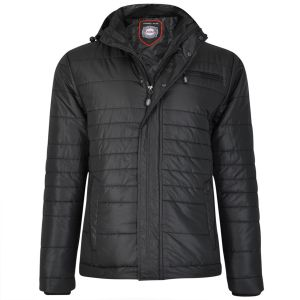 Mens Extra Tall Quilted Black Jacket (94) By KAM