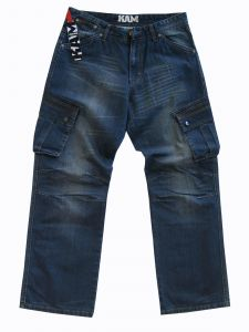 "KAM MENS RELAXED 6 POCKET COMBAT JEANS (JOEY) IN WAIST SIZE 40 TO 60"" & INSIDELEG 30/32/34"