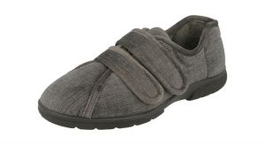 Men'S Slippers / House Shoes (Hamilton)6V Wide Fit By Db Shoes in Grey