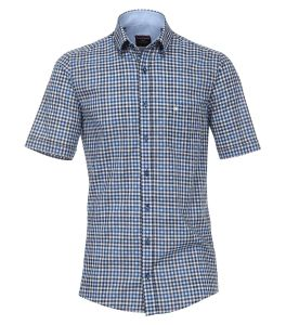 Casa Moda Premium Cotton Comfort Fit Short Sleeve Checked Shirt, Size XXL to 6XL