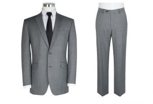 """SCOTT Mens Wool Blend 2 Piece Suit in Light Grey (10123) in Size 50 to 60"""",S/R/L"""