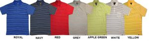 D555 STRIPE POLO T SHIRT WITH POCKET (KENTON) SIZE 1XL TO 6XL, in 7 COLORS