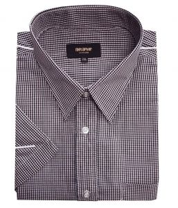 Metaphor Mens Poly Cotton Checked Smart Casual Shirt (14312) Size 2XL to 8XL