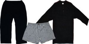 JOCKEY MENS JERSEY LONG PYJAMA WITH KNITTED PANTS AND WOVEN SHORTS,  XL TO 6XL