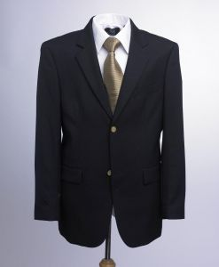 SKOPES MENS ASCOT SINGLE BREASTED CLASSIC BLAZER JACKET IN NAVY