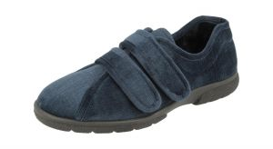 Men'S Slippers / House Shoes (Hamilton)6V Wide Fit By Db Shoes in Navy