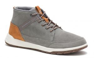 CAT Mens Wide Fit Code Quest Mid Athletic Casual Shoes in Charcoal