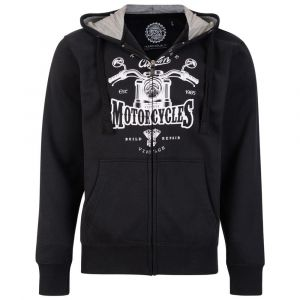 KAM Cotton Rich Motorcycles Hooded Top Black Edition, Size 2 XL to 8XL