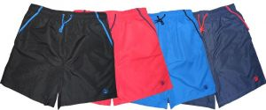 ESPIONAGE CLASSIC PLAIN COLOR WATER SHORT WITH CONTRAST PIPING (035) IN SIZE 2XL TO 8XL, 4 COLORS