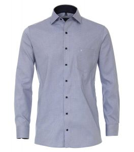 Casa Moda Mens Big Size Pure Cotton Micro Pattern Long Sleeved City Shirt with cutaway collar