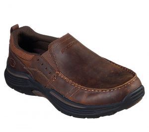 SKECHERS Men's Extra Wide Fit (4E) Expended Seveno shoe in Brown
