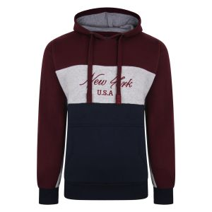 Kam Kbs7033 Ny Over The Head Contrast Block Hoodie 2XL-8XL