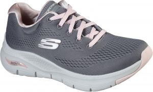 Skechers Arch Fit Sunny Outlook Sports Shoe Ladies Sports in Grey/Pink