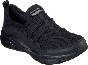 Skechers Arch Fit Lucky Thoughts Sports Shoe Ladies Sports in Black/Black