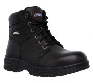 SKECHERS Men's Relaxed Fit-Workshire Steel Toe boot in Black