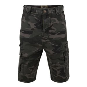 KAM PURE PREMIUM COTTON CAMO LONGER LENGTH CARGO/COMBAT SHORTS (374) IN WAIST SIZE 42 TO 60""