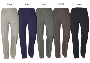 "CARABOU MULTI POCKET WATER AND STAIN RESISTANT ACTION TROUSERS IN WAIST SIZE 32 TO 60"", L27/29/31/33, 4 COLORS OPTION"