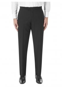 SKOPES Wool Blend Latimer Dinner Suit Trousers in Black in Size 34 To 62