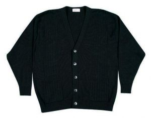 CARABOU MENS COTTON BLEND BUTTON FRONT CARDIGAN IN BLACK SIZE 2XL TO 4XL