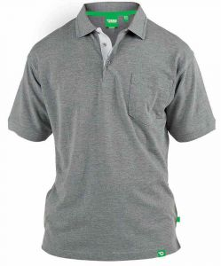 D555 GRANT Fully Combed Pique Polo - Shirt With Pocket