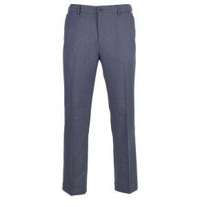 FARAH MENS FLAT FRONT FLEXI WAIST TROUSERS IN SILVER GREY