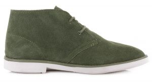 DUDE Shoes Torino in Green Suede Desert Boot