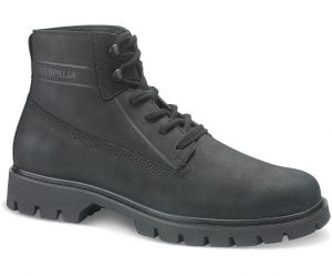 CAT Mens Full Grain Leather Modern High Top Boots (Basis) in Black