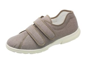 Men'S Canvas / Summer Shoes (Harris)6V Wide Fit in Taupe by DB Shoes in Taupe