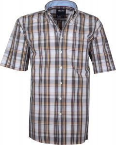 GCM Cotton Short Sleeve Check shirt (3303) in Size S to XXL