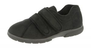 Men'S Slippers / House Shoes (Joseph)6V Wide Fit By Db Shoes in Black
