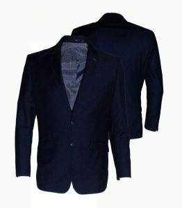 Mens Formal Semi Fitted Navy Suit Jacket (Jefferson)