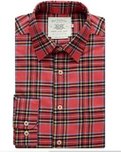 Mens Bar Harbour Big Size Red Tartan Check Long Sleeved Shirt