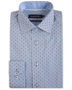 Double Two Mens Big Size Pure Cotton Easy Care LS Formal Shirts (SAW19)