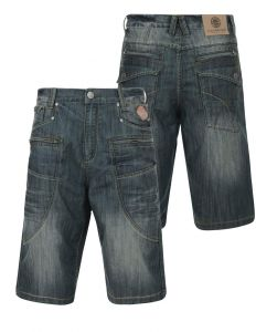 KAM MENS VINTAGE WASH MULTIPOCKET DENIM SHORTS (RIC) IN WAIST 30 TO 60 INCHES