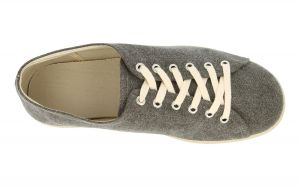 DB's Men's Extra Wide (2V Fit) Modern Washed Canvas Leisure Shoes (Peter) in Grey