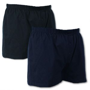 Espionage Mens Big Size Twin Pack Button Front Boxer Shorts (U001)